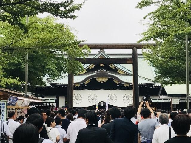 靖国神社初詣の参考画像