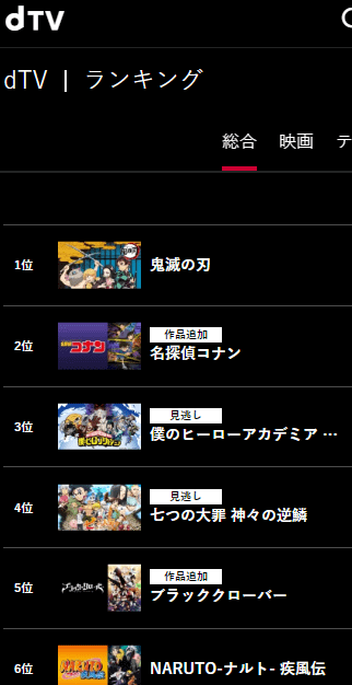 dTVアニメ